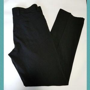 Grafton Black Flat Front Pants